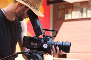 Luke doing his thing with the Sony FS-700.
